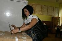 Corina Danila a votat in Pitesti