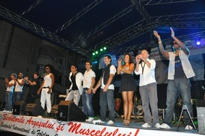 Ion Jinga si Constatin Nicolescu la Festivalul Carpati de la Campulung