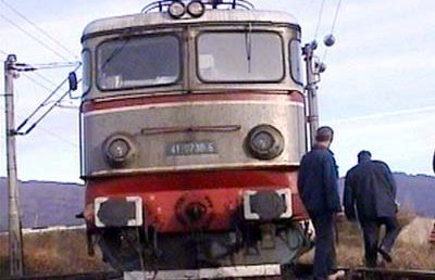 Locomotiva deraiata in statia CFR Ciumesti