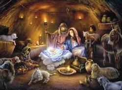 Staul cu scena Nasterii lui Iisus in fata Primariei