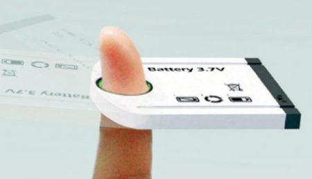 Bateria care se incarca din deget