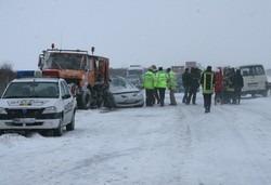 Carambol cu 30 de masini pe A1! Autostrada este blocata!
