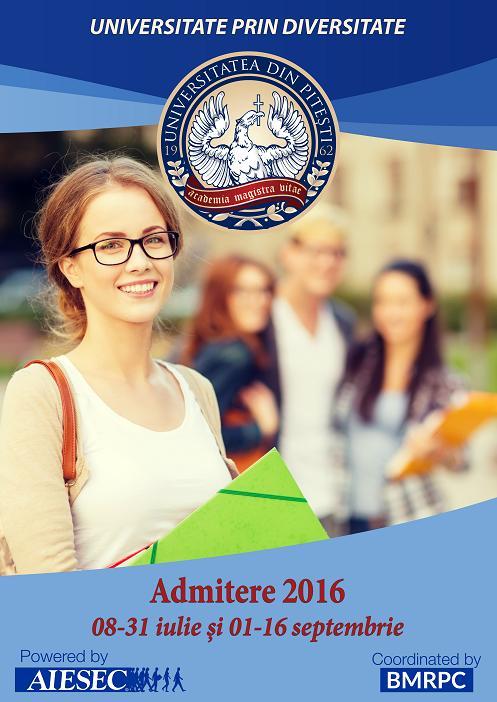 Universitatea din Pitesti - Admintere 2016