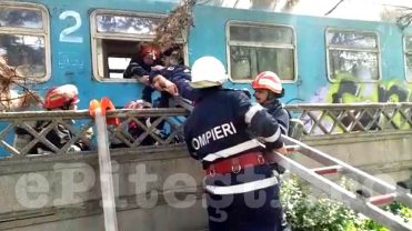 (VIDEO) EXERCIȚIU: GRAV ACCIDENT DE TREN ÎN PITEȘTI