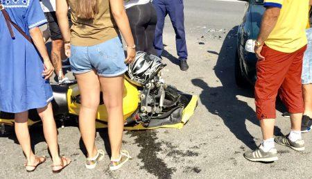 UPDATE: ACCIDENT ÎN ARGEȘ. UN MOTOCICLIST A AJUNS LA SPITAL