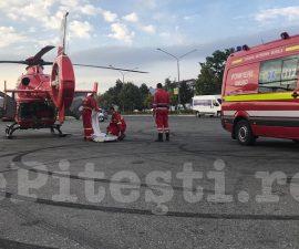 ACUM: PACIENT INTUBAT, TRANSPORTAT LA ELICOPTERUL SMURD