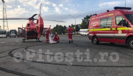 ACUM: ELICOPTER SMURD LA STADION PENTRU O PACIENTĂ