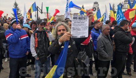 """(VIDEO) UPDATE: MITING DE AMPLOARE: """"JOS HOȚII! JOS GUVERNUL!"""""""