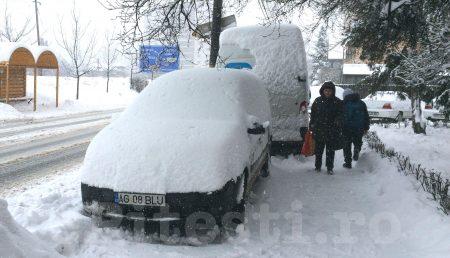 Județul Argeș, sub cod galben de ninsori