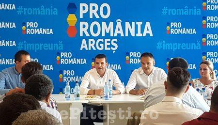 DANIEL CONSTANTIN, ȘEDINȚĂ ÎN PITEȘTI LA PRO ROMÂNIA ARGEȘ