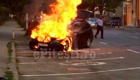 (VIDEO) UPDATE: BMW ÎN FLĂCĂRI PE REPUBLICII