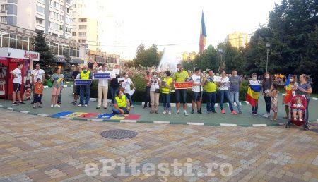 """(VIDEO) PROTEST MUT ÎN PITEŞTI. """"GAZAȚI PE BANII NOȘTRI!"""""""