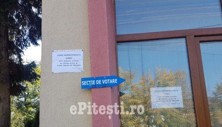 TRIVALE: INCIDENT LÂNGĂ SECȚIA DE VOTARE. PITEȘTENI AMENDAȚI