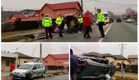 (VIDEO) UPDATE: ACCIDENT GRAV ÎN BASCOV. TRAFIC BLOCAT