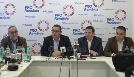 VICTOR PONTA ȘI ECHIPA DE CANDIDAȚI PRO ROMÂNIA VIN ÎN PITEȘTI