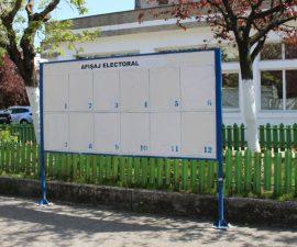 AU FOST STABILITE ZONELE PENTRU AFIȘAJ ELECTORAL ÎN MIOVENI