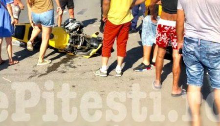 UPDATE – ARGEȘ: ACCIDENT. MOTOCICLIST RĂNIT