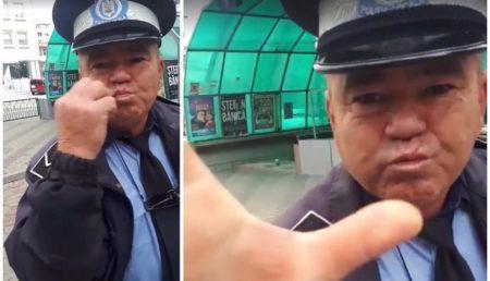 (VIDEO) POLIȚIST LOCAL, AGRESIV CU UN BĂRBAT CARE ÎI SOLICITASE INTERVENȚIA
