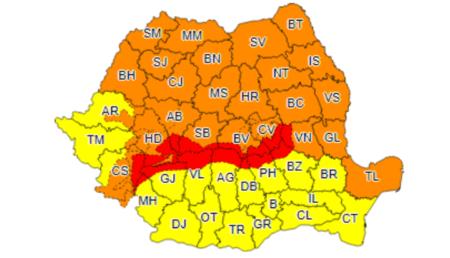 (UPDATE) ANM A EMIS COD ROȘU