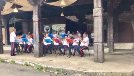 VIDEO: SPECTACOL DE FANFARĂ ÎN PĂDUREA TRIVALE. PROMENADA DINAINTEA FURTUNII DE COVID