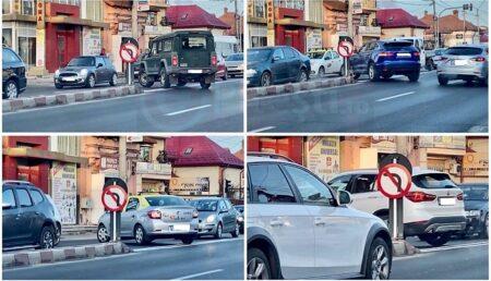 Video: Haos total în Pitești, după montarea unui nou indicator de circulație