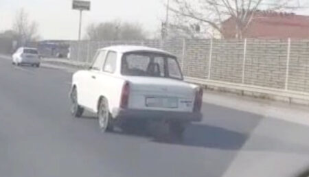 Argeşean prins beat la volanul unui Trabant