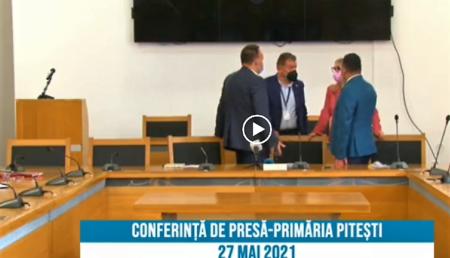 Video – Blat între Gentea, PNL și USR în Consiliul Local Pitești pentru contractele cu presa!