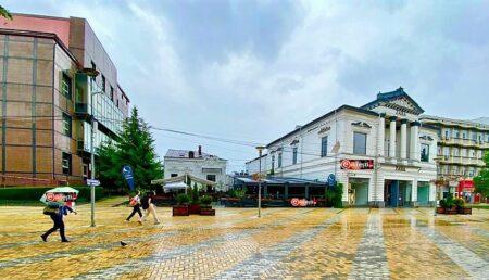 Restaurantul Bibliotheque din centrul Piteștiului și-a tras cale de acces pe spațiul verde