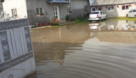 Video: Gospodării inundate în Argeș. Apa a ajuns până în casele oamenilor