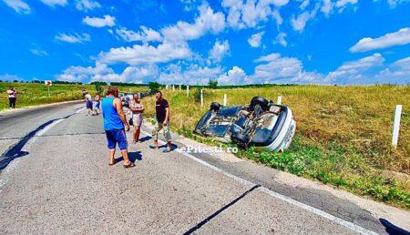 Pericol pe o șosea din Argeș! Scurgeri mari de motorină pe carosabil