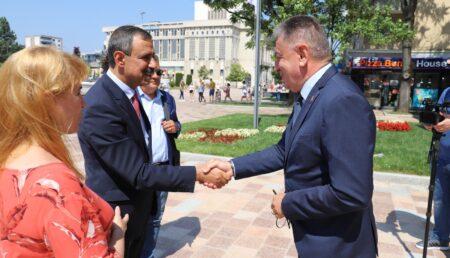 Vizită a ambasadorului palestinian la Pitești