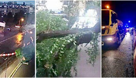 Video – Furtuna de aseară a creat pagube la Pitești