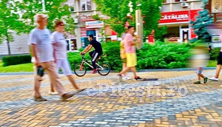 Video – Pitești/Bicicliștii amendați pe Strada Mare pietonală!