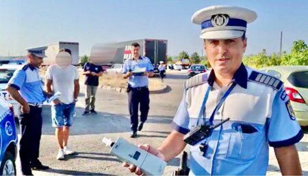 Şofer din Argeş surprins în exces de viteză şi alcool la volan
