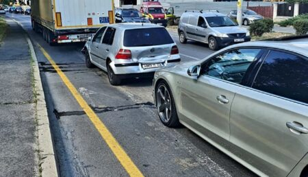 Piteşti: Accident pe varianta Prundu-Craiovei