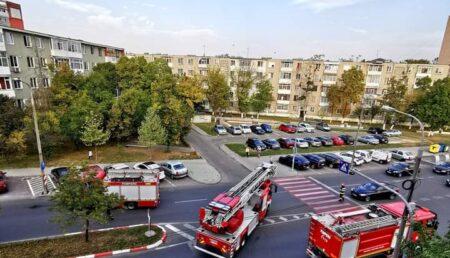 Intervenție ISU cu mai multe autospeciale, acum, în Pitești