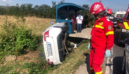 Mărăcineni: Accident cu trei maşini. Imagini – video de la locul evenimentului