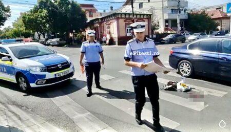 Video – Piteşti: Accident grav pe trecerea de pietoni