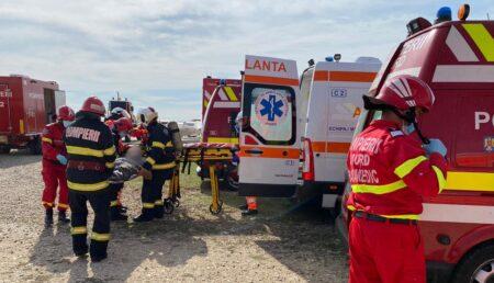 Exercițiu: Accident aviatic pe aerodromul din Geamăna. O aeronavă a aterizat de urgență