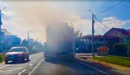 Video – Panică în trafic, la ieșirea din Pitești