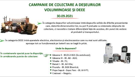 Campanie de colectare a deșeurilor electrice și voluminoase, în Pitești