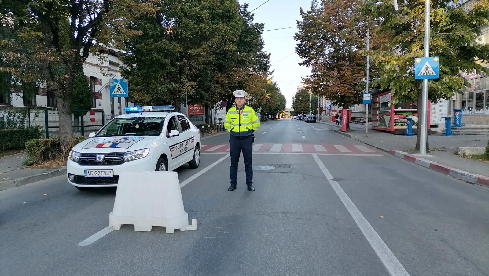 Fără mașini în centrul Piteștiului, astăzi!