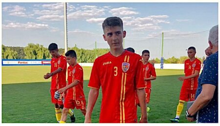 Fotbalist de la LPS Pitești, selecționat la echipa Naționala a României