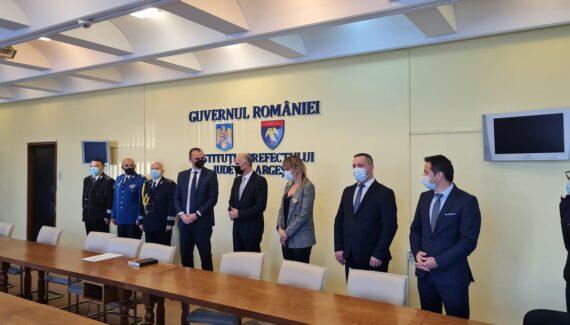 Radu Perianu a fost învestit în funcția de prefect al județului Argeș