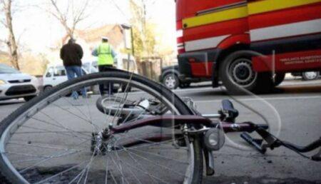 Biciclist lovit de mașină în Ștefănești
