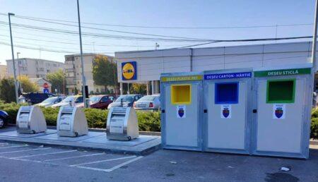 Noi pubele pentru colectarea deșeurilor reciclabile, instalate în Pitești